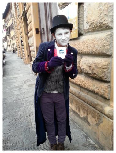 Artista di strada, Firenze - Palazzo Pitti.